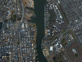 jack london square, oakland, ca aerial picture
