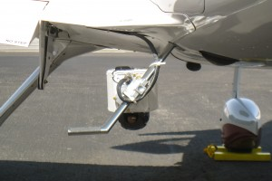 SkyIMD Aerial Camera Pod on Cirrus SR22