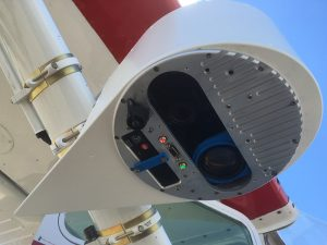 Picture of a customer SWIR sensor in a SkyIMD Pod - Cessna 172